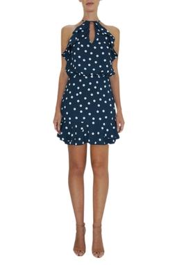 Vestido de Poá Kelly Piquet - BMD 9417