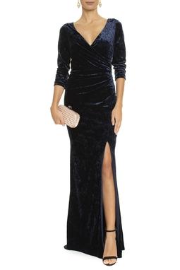 Vestido Devo Velvet Blue- DG14037