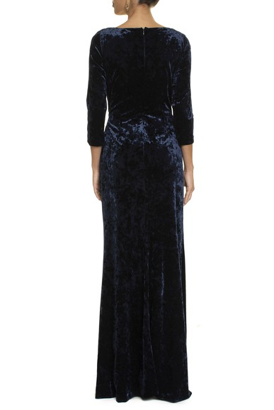 Vestido Devo Velvet Blue Adrianna Papell