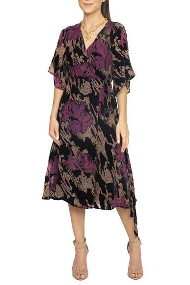 Vestido Envelope Estampa Veludo - DG15101 Zara