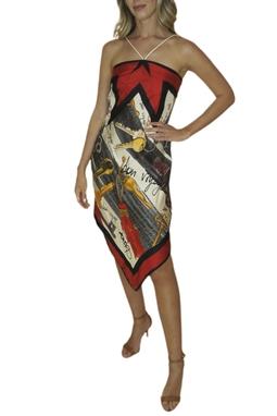 Vestido Estampado de Seda - BMD 9189