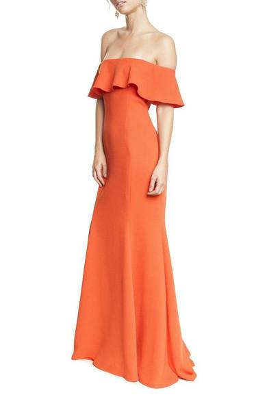 Vestido Florbela Orange Marcelo Quadros