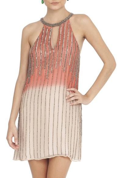 Vestido Horizonte Coral - DG12825 Basic Collection