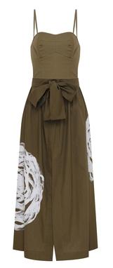 Vestido Itape Baiana - Verde Musgo  USTL