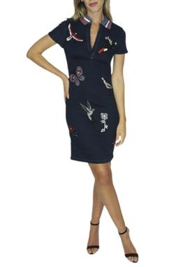 Vestido Jeans Bordado - BMD 9531