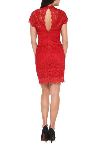 Vestido Lace Red Nicole Miller