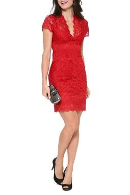 Vestido Lace Red