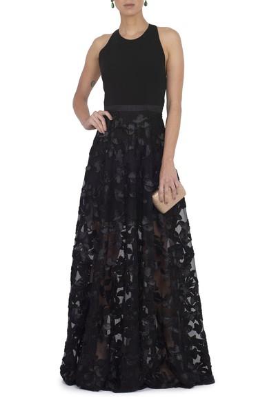 Vestido Lesley Black Badgley Mischka