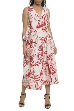 Vestido Linho Floral - DG18001
