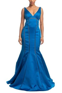 Vestido Longo Alça Azul HM - DG18621