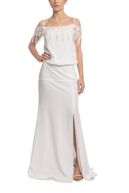 Vestido Longo Alça Branco HM - DG18669