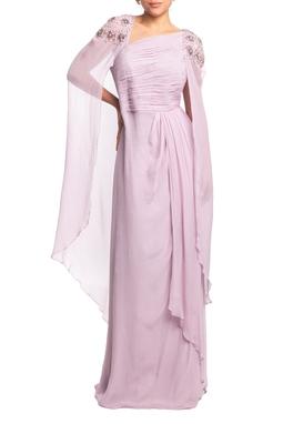 Vestido Longo Alça Lilás HM - DG18899