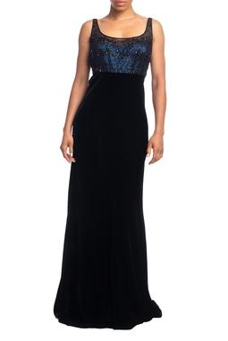 Vestido Longo Alça Preto HM - DG18809