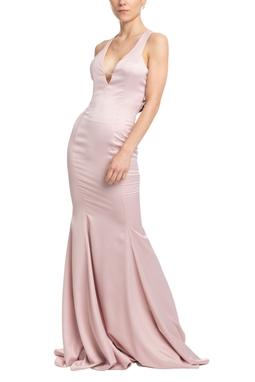 Vestido Longo Alça Rosa HM - DG18554
