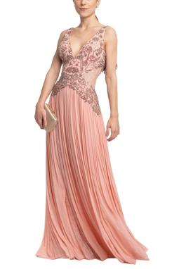 Vestido Longo Alça Rosa HM - DG18654