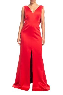 Vestido Longo Alça Vermelho HM - DG18909