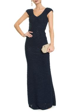 Vestido Longo Azul Marinho - DG18469