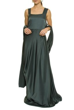 Vestido Longo Chumbo - DG17430