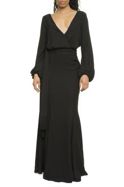 Vestido Longo Cordão Black - I16EPVT06