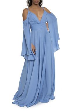 Vestido Longo Decote V Fendas - DG16780