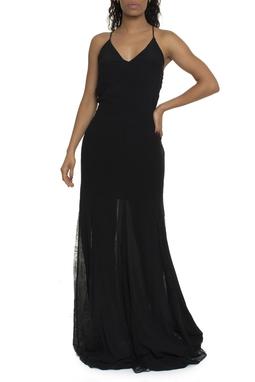 Vestido Longo Detalhes Renda  - DG16795