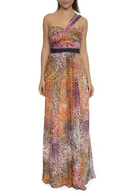 Vestido Longo Estampado Alça Transpassada - DG16702