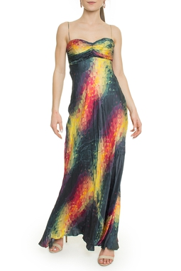 Vestido Longo Estampado - DG18108
