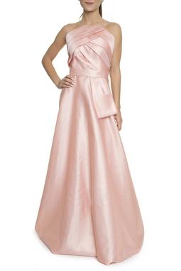 Vestido Longo Evasê Rosa - DG16782