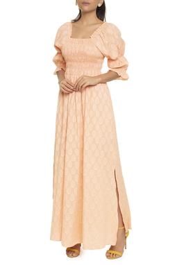 Vestido Longo Manga Bufante  - DG16580