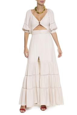 Vestido Longo Manga Bufante - DG16606