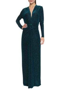 Vestido Longo Manga Longa Lurex - DG16794