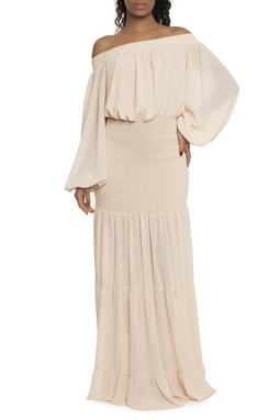 Vestido Longo Manga Longa Pala - DG16788