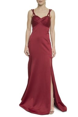 Vestido Longo Marsala - DG17919