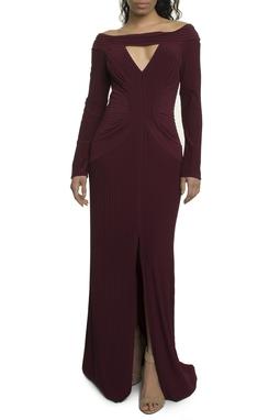 Vestido Longo Marsala - DG17893