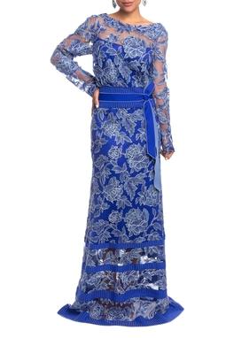 Vestido Longo ML Azul HM - DG18825