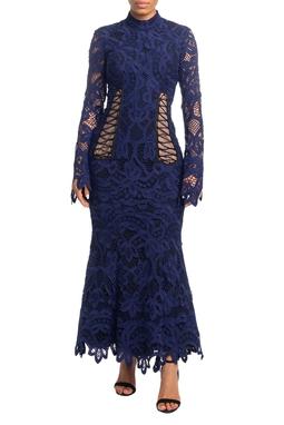 Vestido Longo ML Azul Marinho HM - DG18813