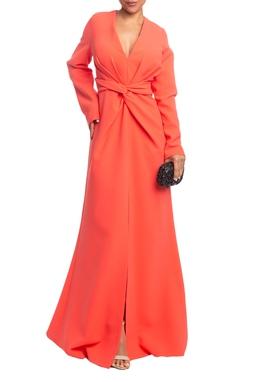 Vestido Longo ML Coral HM - DG18829