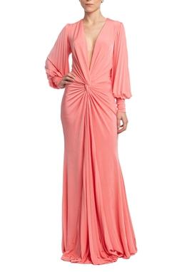 Vestido Longo ML Rosa HM - DG18656