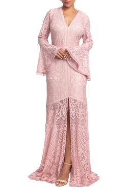 Vestido Longo ML Rosa HM - DG18835