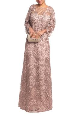 Vestido Longo ML Rosê HM - DG18833