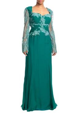 Vestido Longo ML Verde HM - DG18774