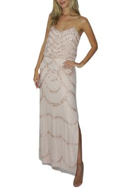 Vestido Longo Rosa Bordado - BMD 9287