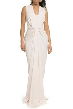 Vestido Longo Rose Detalhe Frontal - DG17701