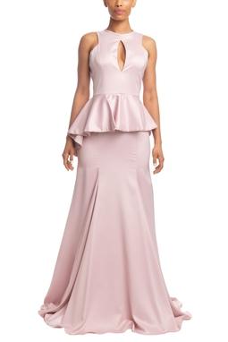 Vestido Longo Sem Manga Rosê HM - DG18552