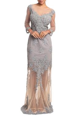 Vestido Longo Sereia Cinza HM - DG18811