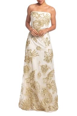 Vestido Longo TQC Dourado HM - DG18806