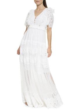 Vestido Longo Tule e Renda - DG16455