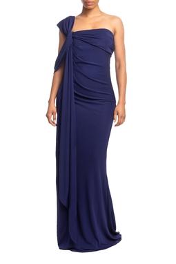 Vestido Longo Um Ombro Azul Marinho HM - DG18757