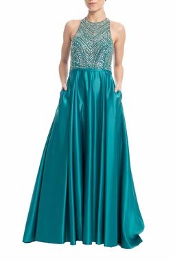 Vestido Longo Verde - DG18473
