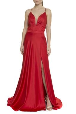Vestido Longo Vermelho - DG17960